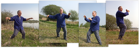 Practicing T'ai chi at Boroughbridge, England